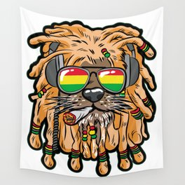 RASTA LION Joint Smoking Weed 420 Ganja Pot Hash Wall Tapestry