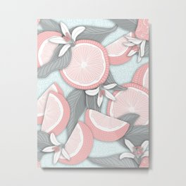 Pink Lemonade pattern 01 Metal Print