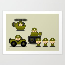 Mini Soldiers Art Print