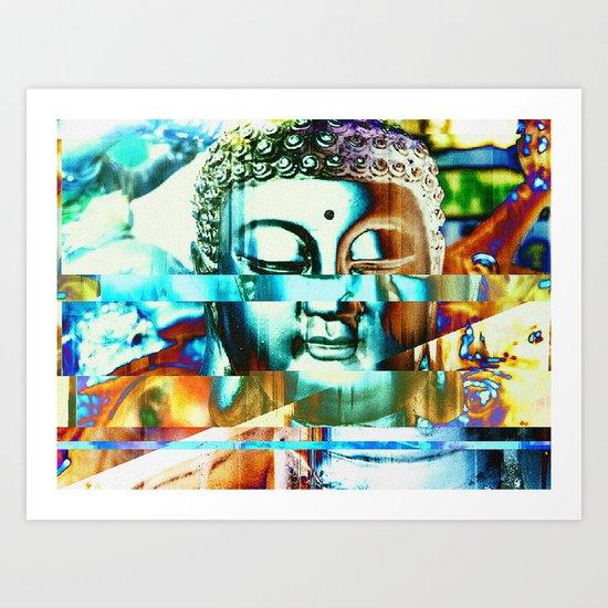 Glitch Buddha #3 Art Print