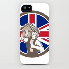 British House Removal Union Jack Flag Icon iPhone Case
