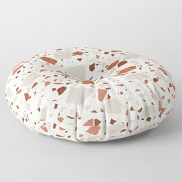 Abstract Brown Terrazzo Floor Pillow