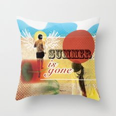 Summer is Gone Throw Pillow