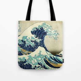 Great Wave off kanagawa. Japanese vintage fine art. Tote Bag