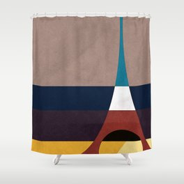 Paris, Eiffel Tower Shower Curtain