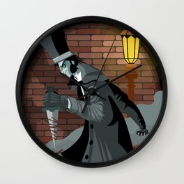 jack the reaper in the alley with a knife Wall Clock