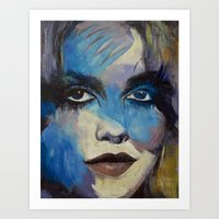 goth Art Prints featuring Goth Girl by Michael Creese