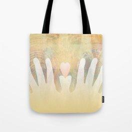 Healing Hands Yellow Tote Bag