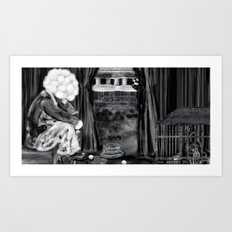 Tears of a clown Art Print