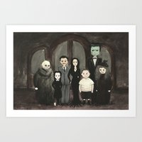 Addams Family  Art Print
