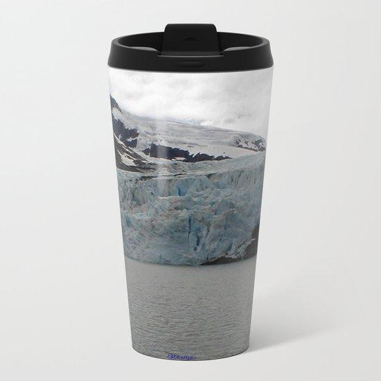 TEXTURES -- A Face of Portage Glacier Metal Travel Mug