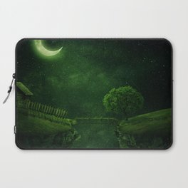countryside crescent moon Laptop Sleeve