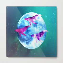 NOCTURNE : ASTRAL WHALES Metal Print