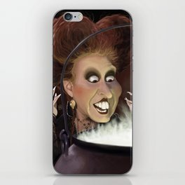 Caricature of Winifred Sanderson of the movie Hocus Pocus iPhone Skin