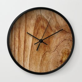 Natural Wood Texture for Wood Artworks Lovers. Wall Clock