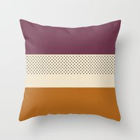 striped Throw Pillows featuring Striped by Bruna Zanardo