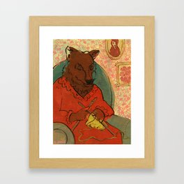 Mr. Wolf Ate Granny Framed Art Print