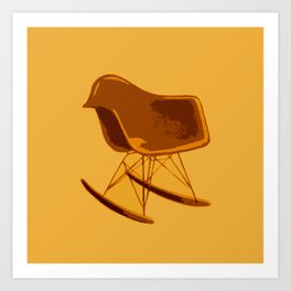 Rocker Chair Orange Art Print