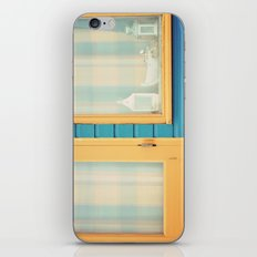 Beach Hut window- orange iPhone & iPod Skin