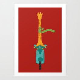 Scooter - ing around Art Print