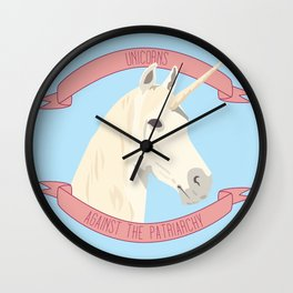 Unicorns Against the Patriarchy Wall Clock