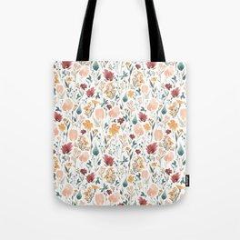 Deep Florals Tote Bag
