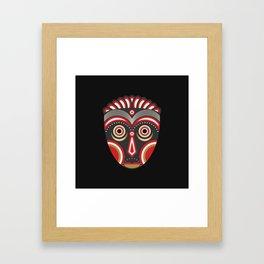 Lulua Mask Framed Art Print