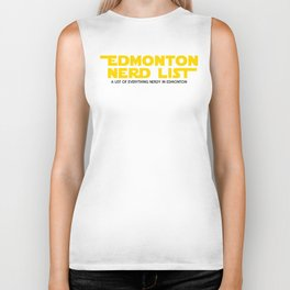 Edmonton Nerd List - From a Galaxy Far Far Away (solid on light) Biker Tank