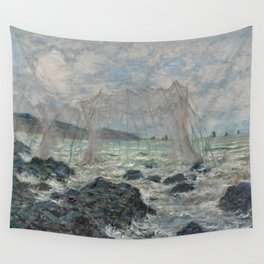 Fishing Nets at Pourville Wall Tapestry