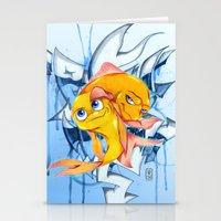 bucky Stationery Cards featuring Bucky & Ace by Paz Art