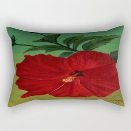 Red hibiscus Rectangular Pillow