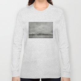 Vancouver Raincity Series - Raincity i - Moody Downtown Vancouver Cityscape Long Sleeve T-shirt