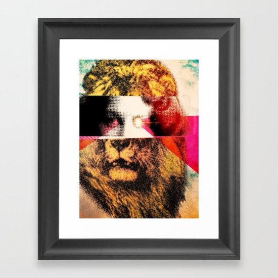 Lady Lion Framed Art Print