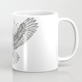 Mason Owl with skull, rule, compass and the eye that sees everything (tattoo style) Coffee Mug