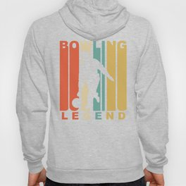 Vintage 1970's Style Bowling Legend Retro Bowler Hoody
