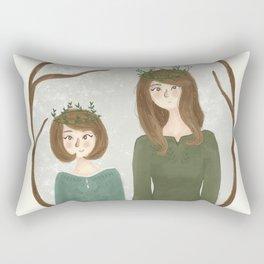 Queen Susan and Queen Lucy Rectangular Pillow