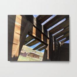 Ghost town barn Metal Print