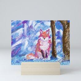 Calm Winter Fox Mini Art Print