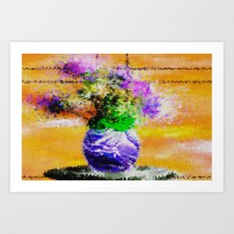 Floral still lifes. Art Print