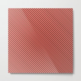 Peach Echo and Black Stripe Metal Print