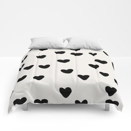 Big Hearts Brush Strokes Pattern Comforters