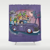 van Shower Curtains featuring Van by manuvila
