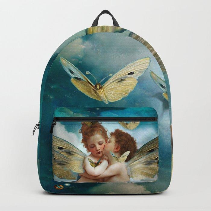 """""""Angels in love in heaven with butterflies"""" Rucksack"""