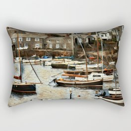 Mousehole Harbour Rectangular Pillow