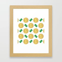 Dollar pattern background Framed Art Print