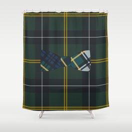 Plaid on Plaid Shower Curtain