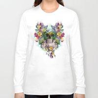 skulls Long Sleeve T-shirts featuring SKULLS by RIZA PEKER