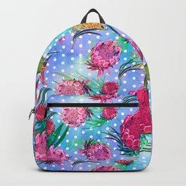 Soft Australian Native Floral Print Backpack
