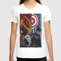 winter soldier T-shirts featuring Winter Soldier by Evan Tapper