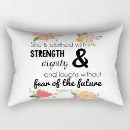 Proverbs 31:25 Rectangular Pillow